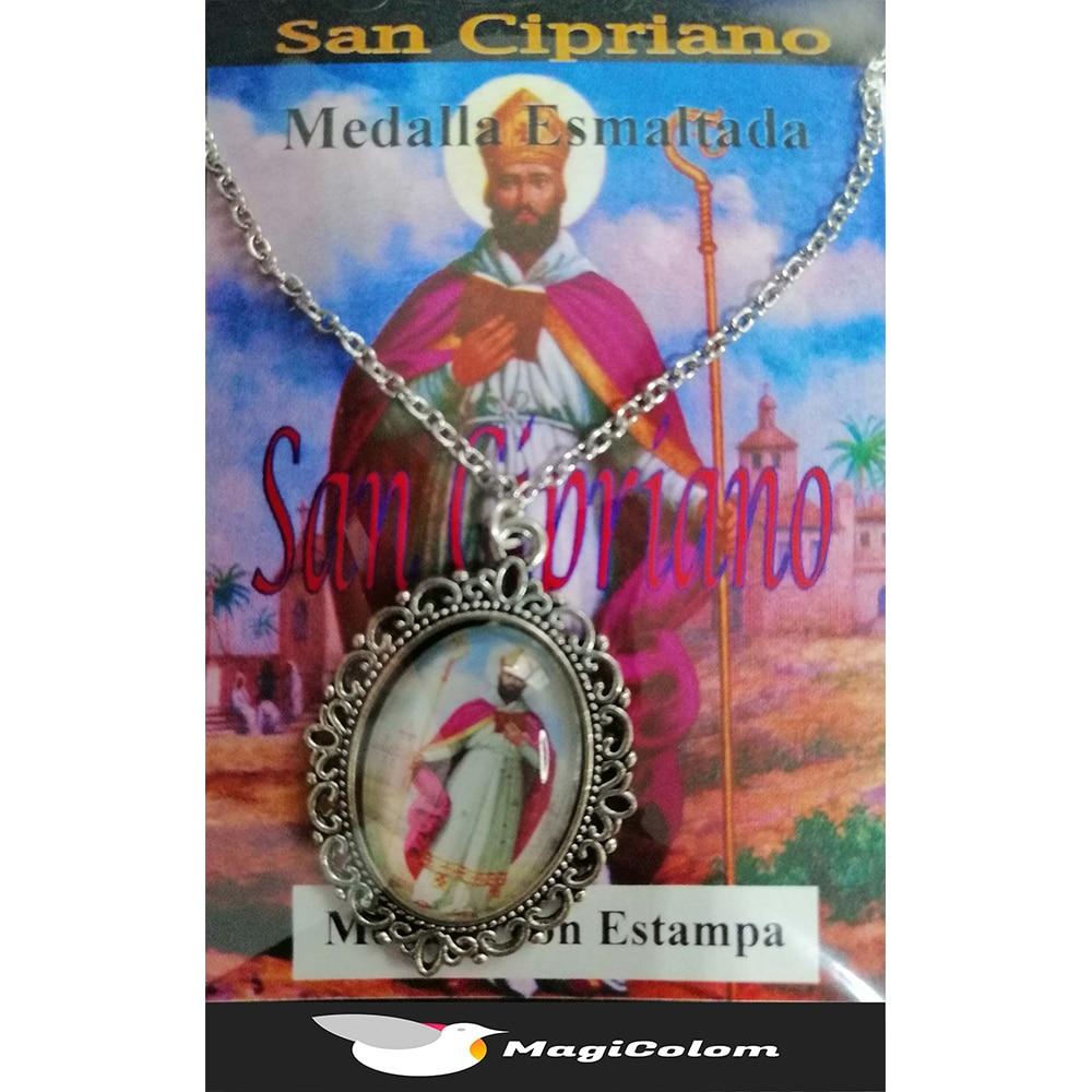 Medallón Esmaltado San Cipriano