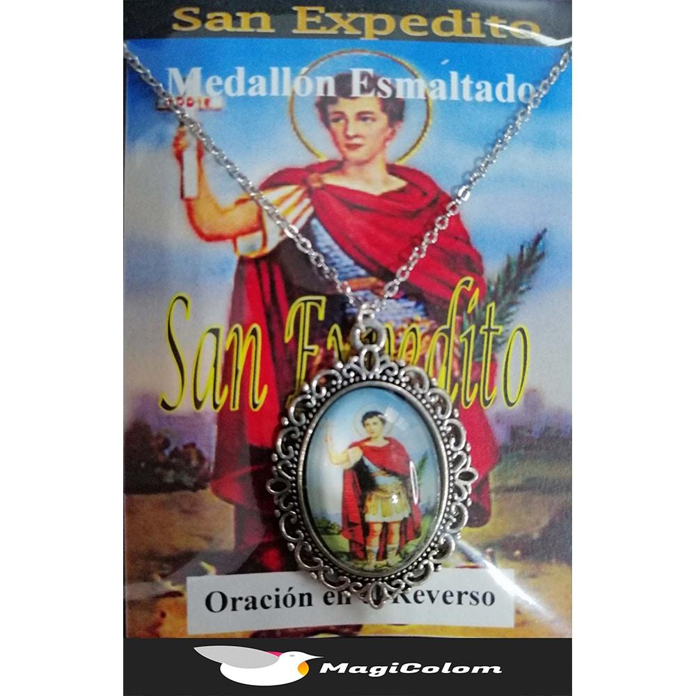 Medallón Esmaltado San Expedito