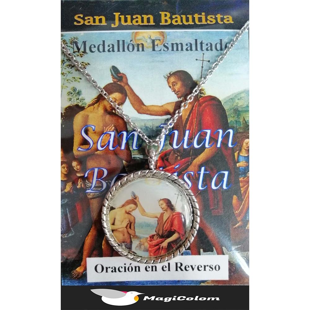 Medallón Esmaltado San Juan Bautista