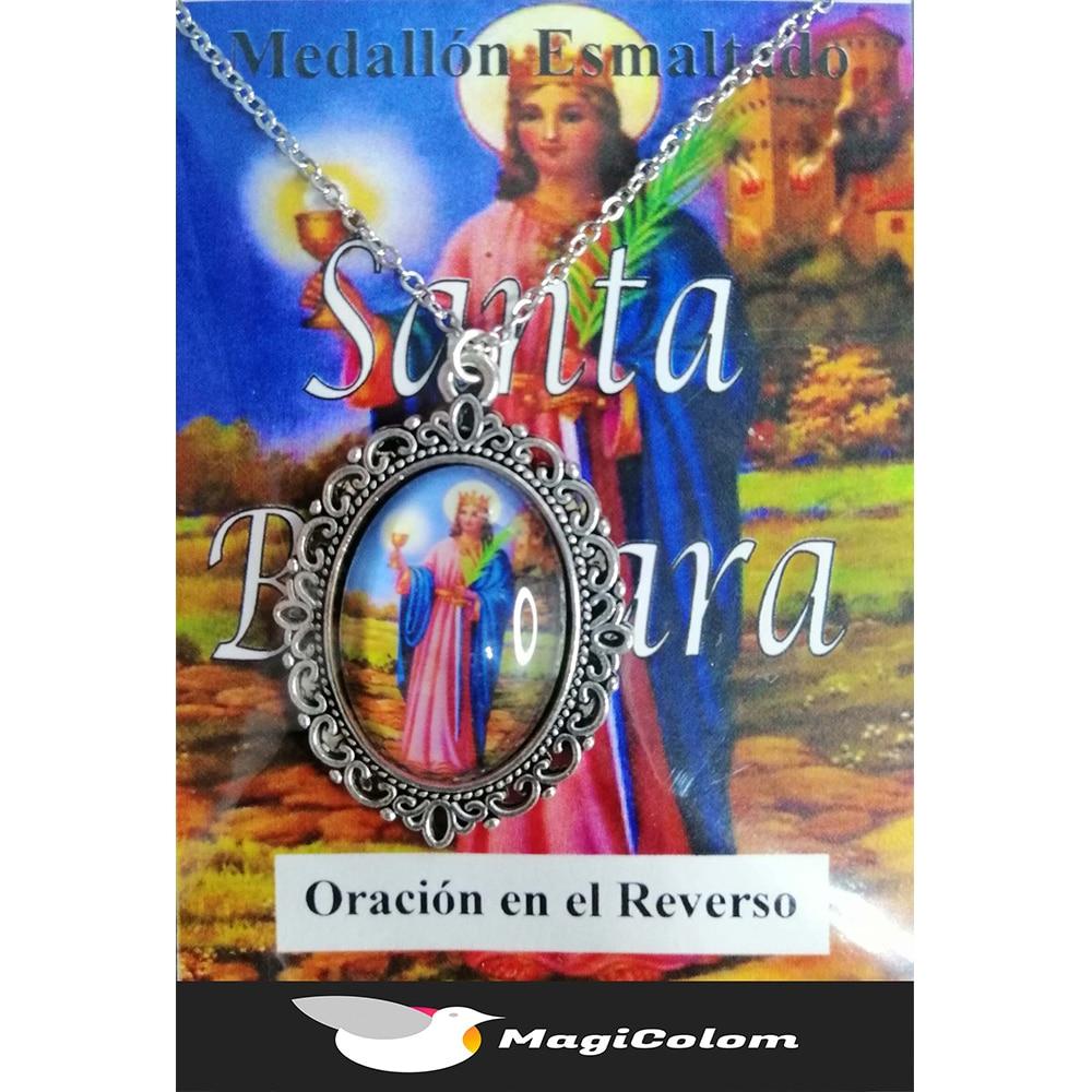 Medallón Esmaltado Santa Bárbara
