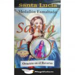 Medallón Esmaltado Santa Lucía