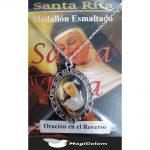 Medallón Esmaltado Santa Rita