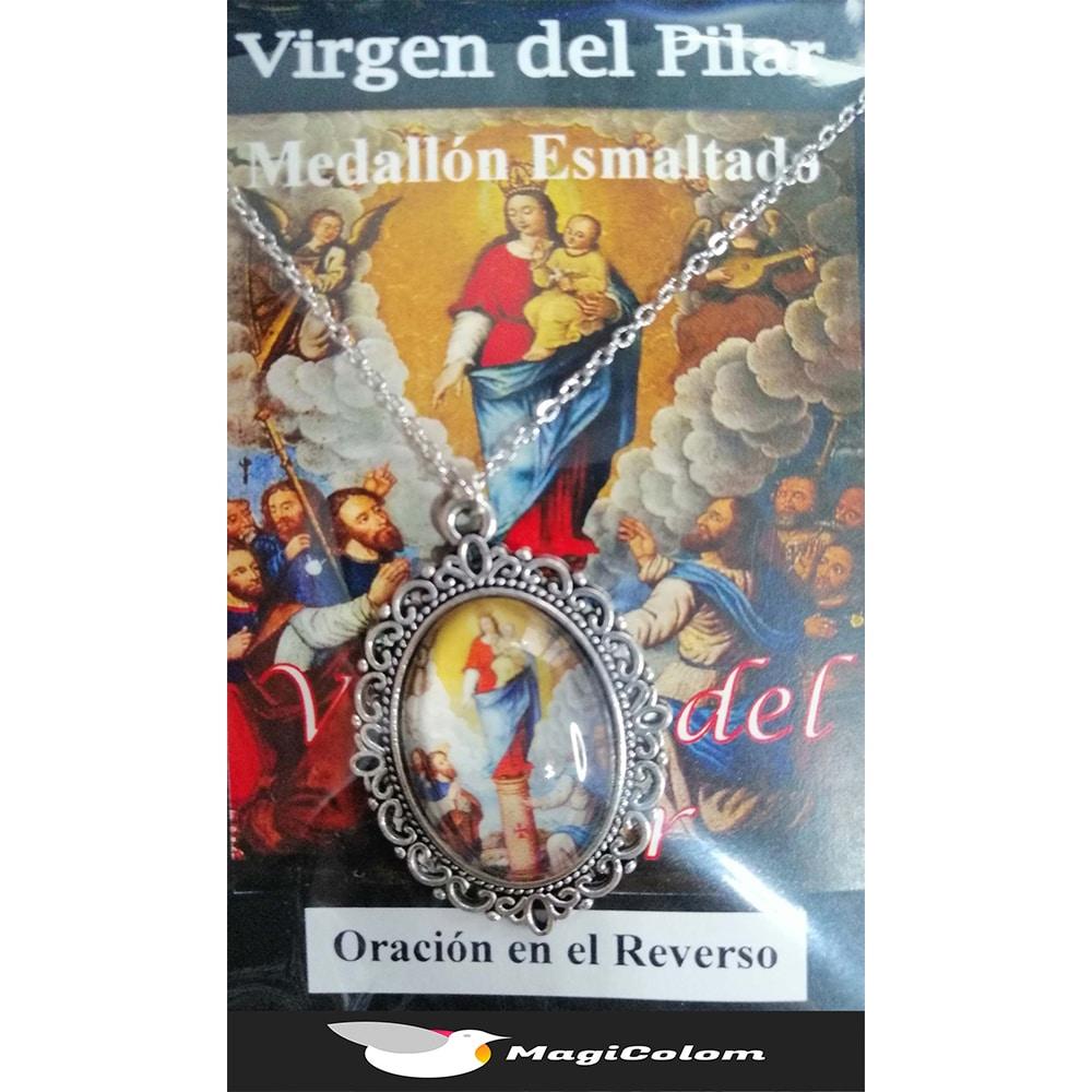 Medallón Esmaltado Virgen del Pilar