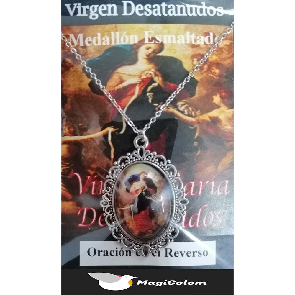 Medallón Esmaltado Virgen María Desatanudos