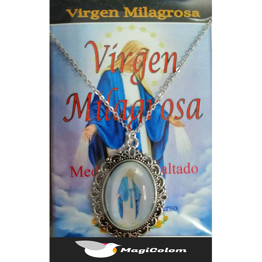 Medallón Esmaltado Virgen Milagrosa