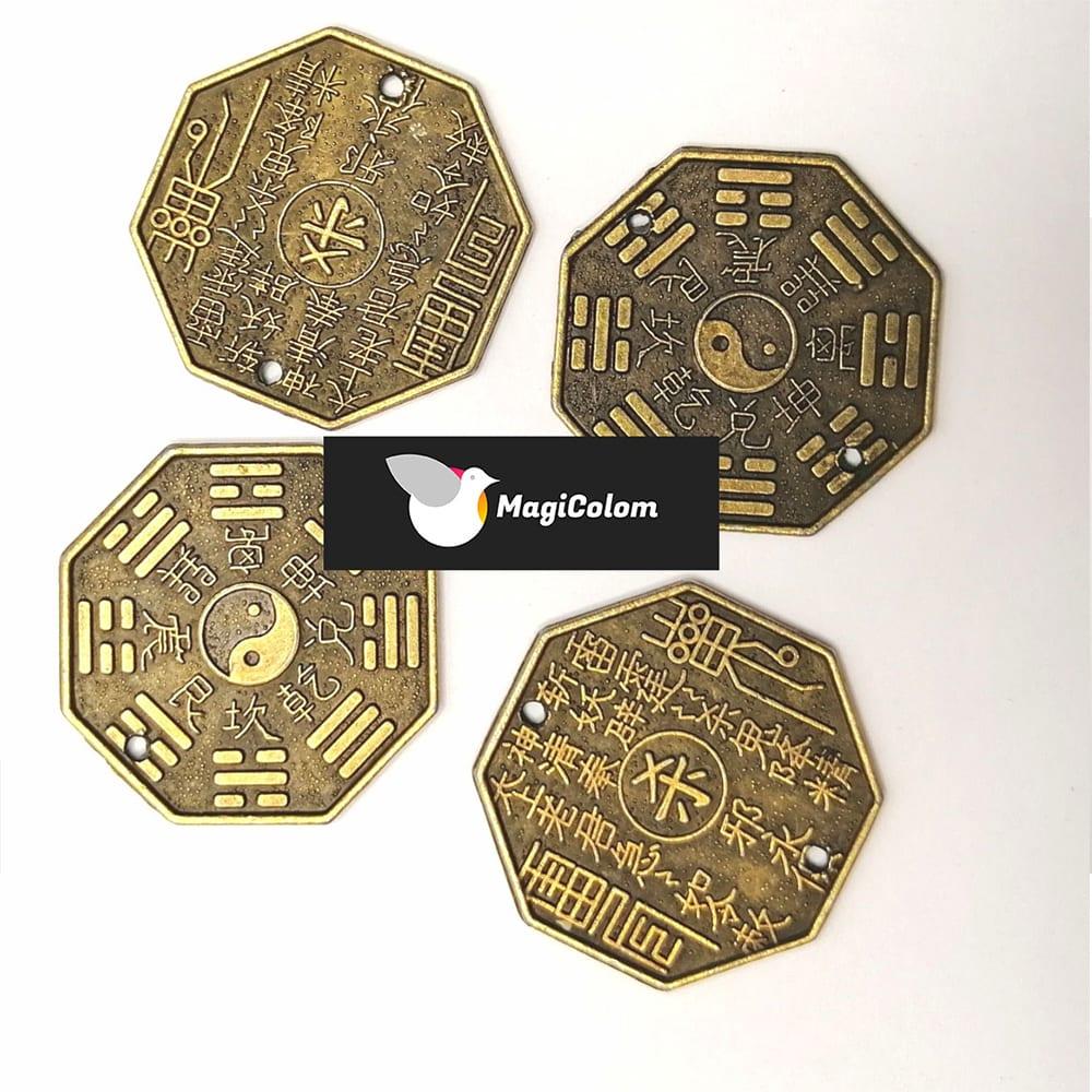 Moneda Chinas con Símbolo del Ying Yang