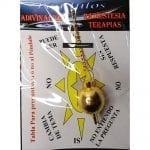 Péndulo Esfera Metal Dorado 3cm