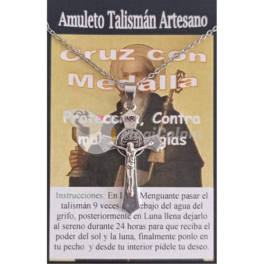 Talismán Cruz con Medalla de San Benito