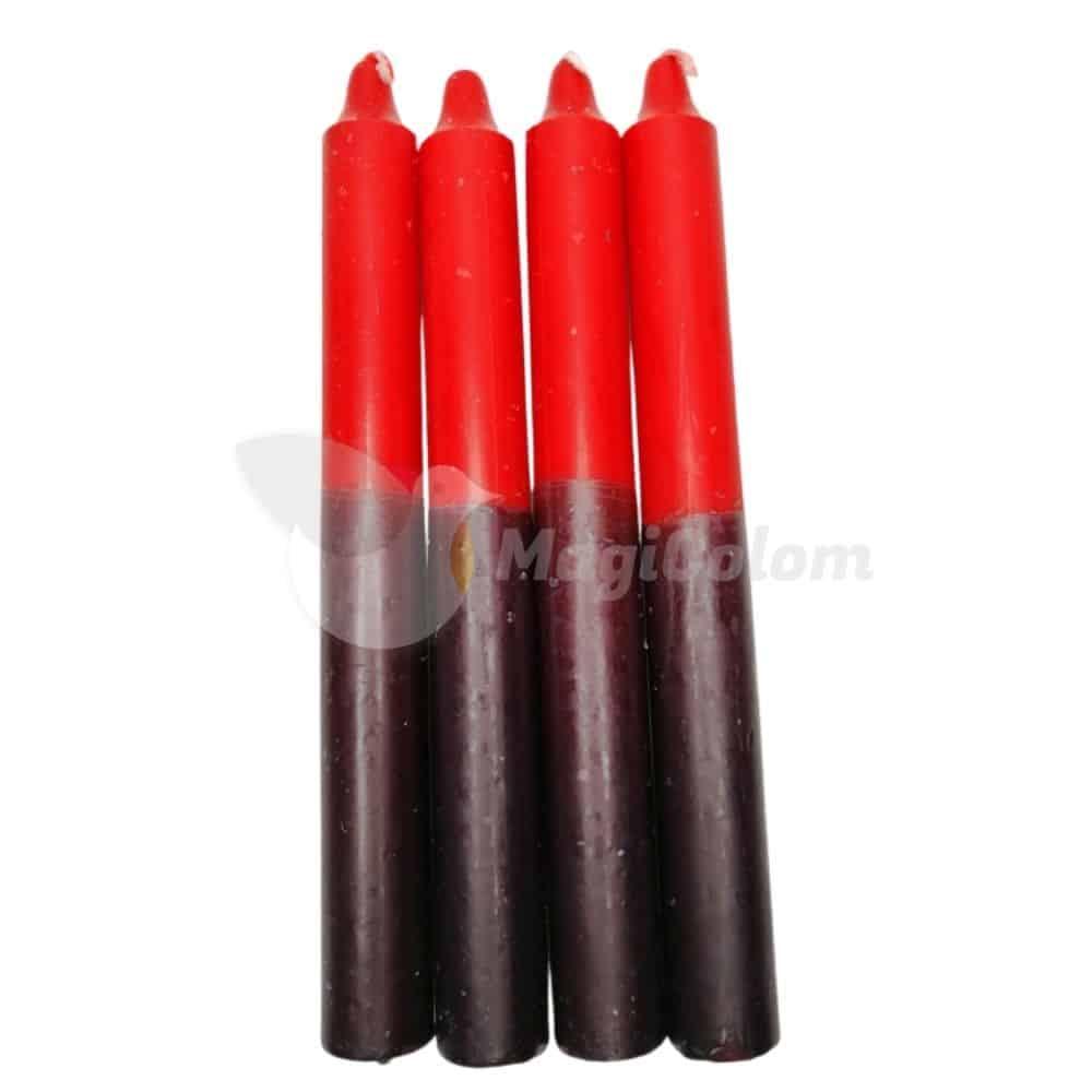 Vela Negra y Roja Especial Esotérica