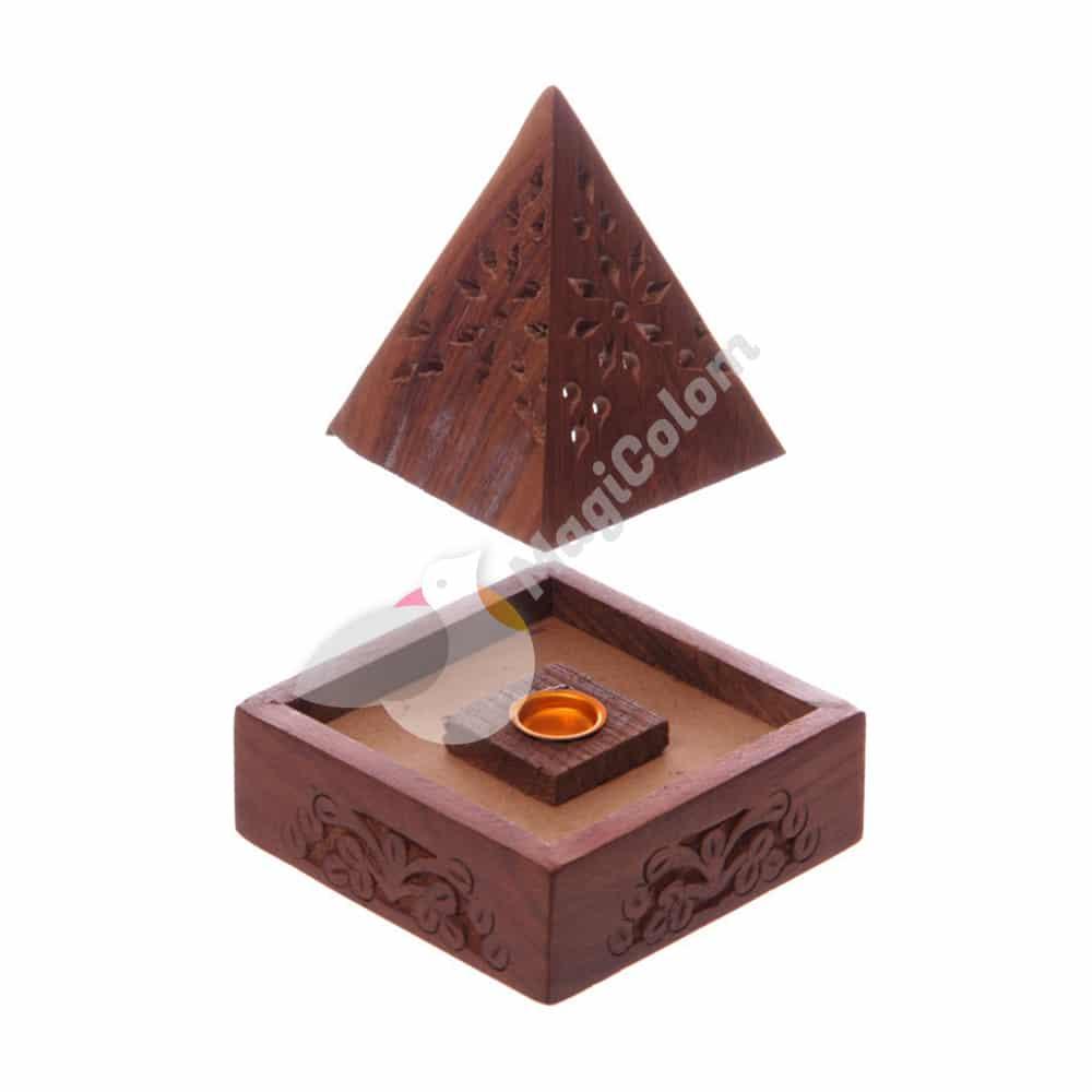 Caja Pirámide Portainciensos, Quemador de Cono y Varilla