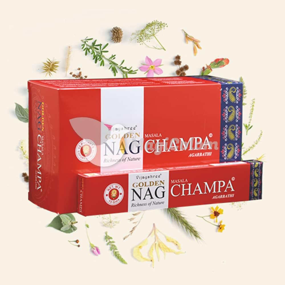 Incienso Golden Nag Champa Rojo