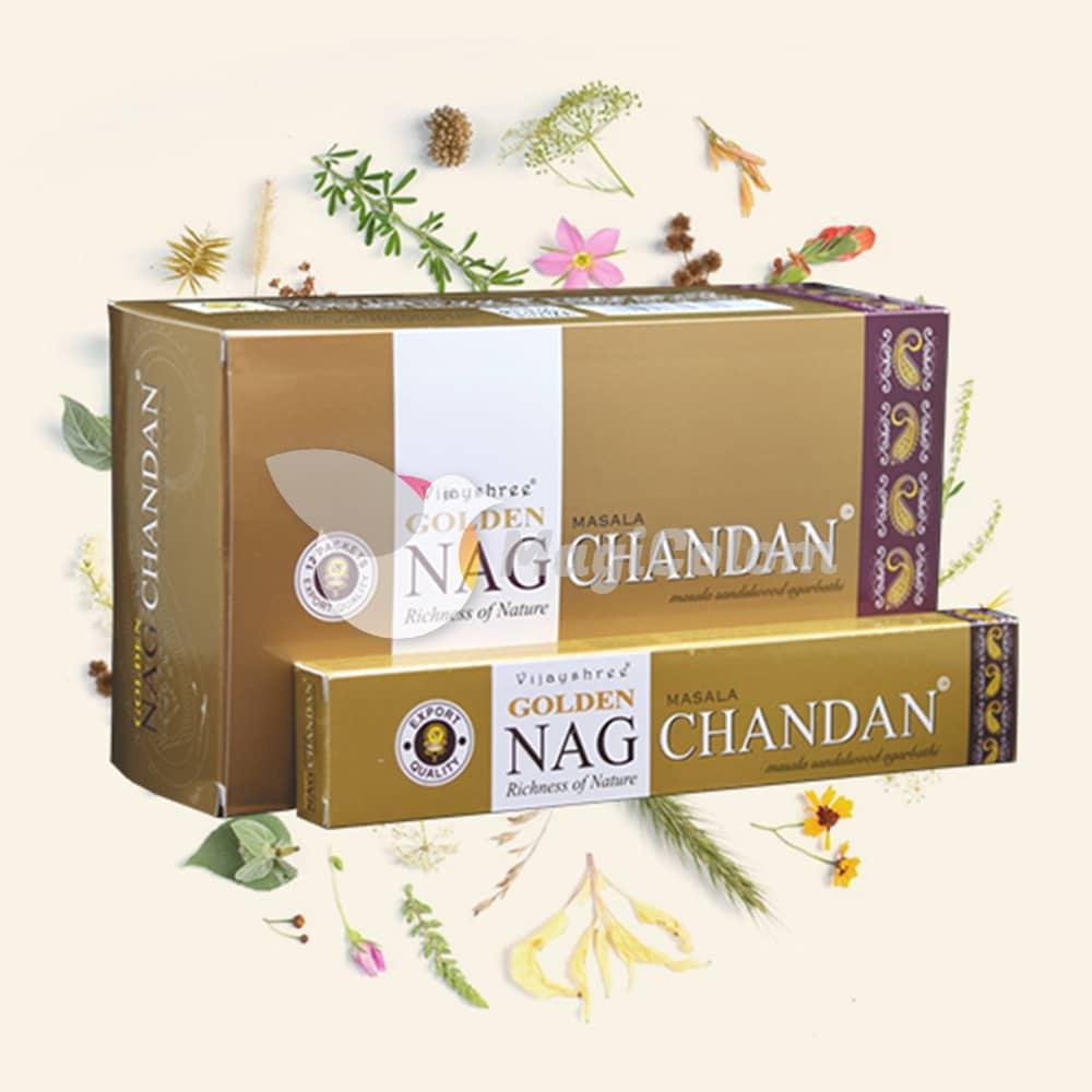 Incienso Golden Nag Chandan Dorado Sándalo