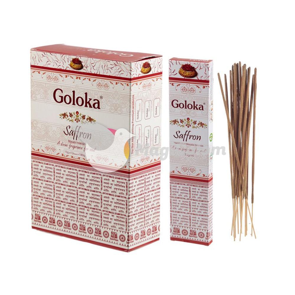 Incienso Goloka Premium Azafrán