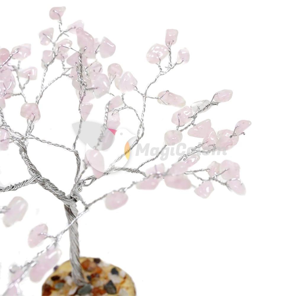 Árbol de mineral Feng Shui Cuarzo Rosa