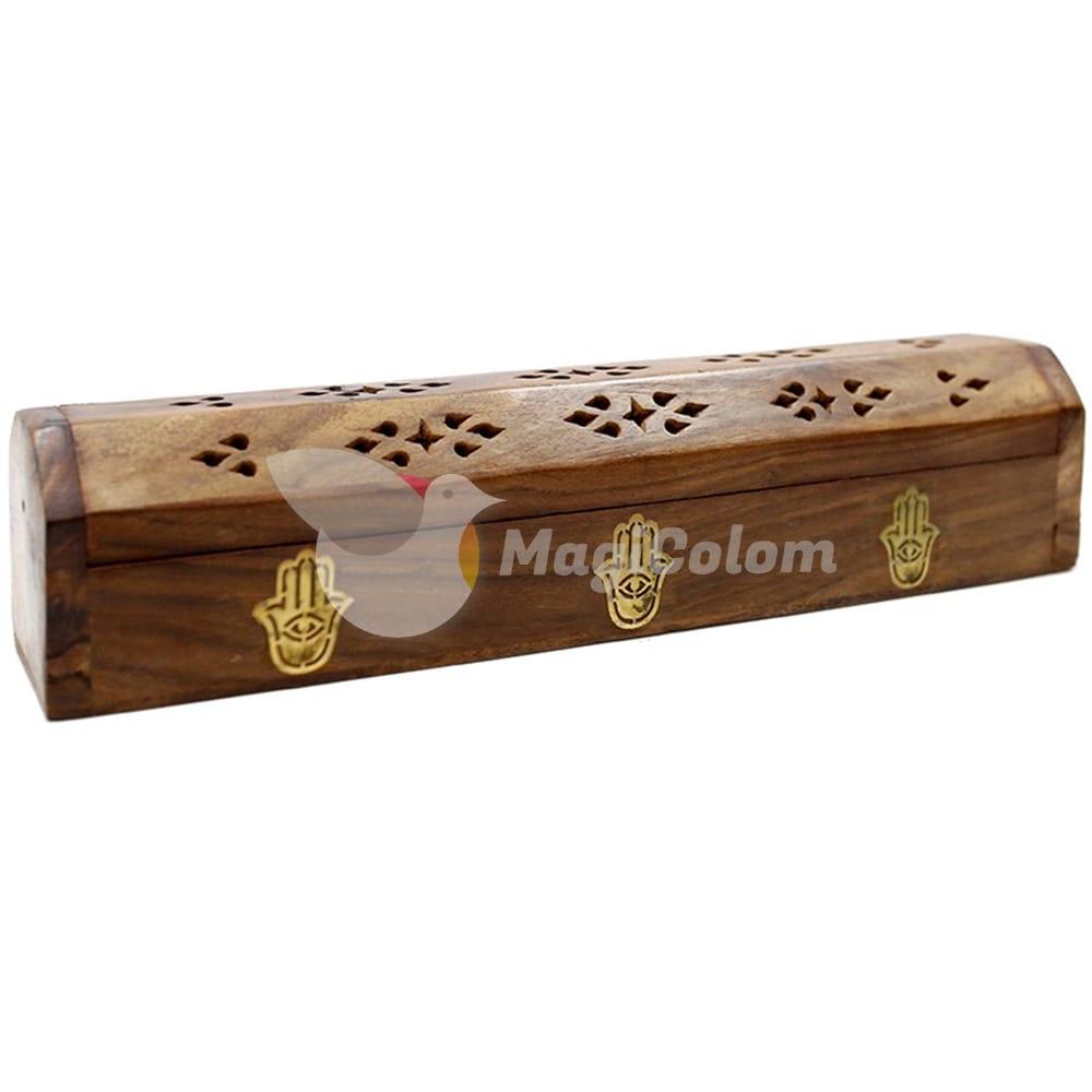Caja de humo madera Mano de Fátima