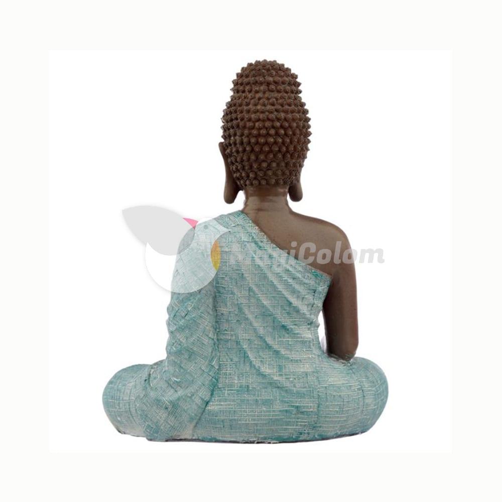 Figura Buda Tailandés Marrón y Turquesa Amor