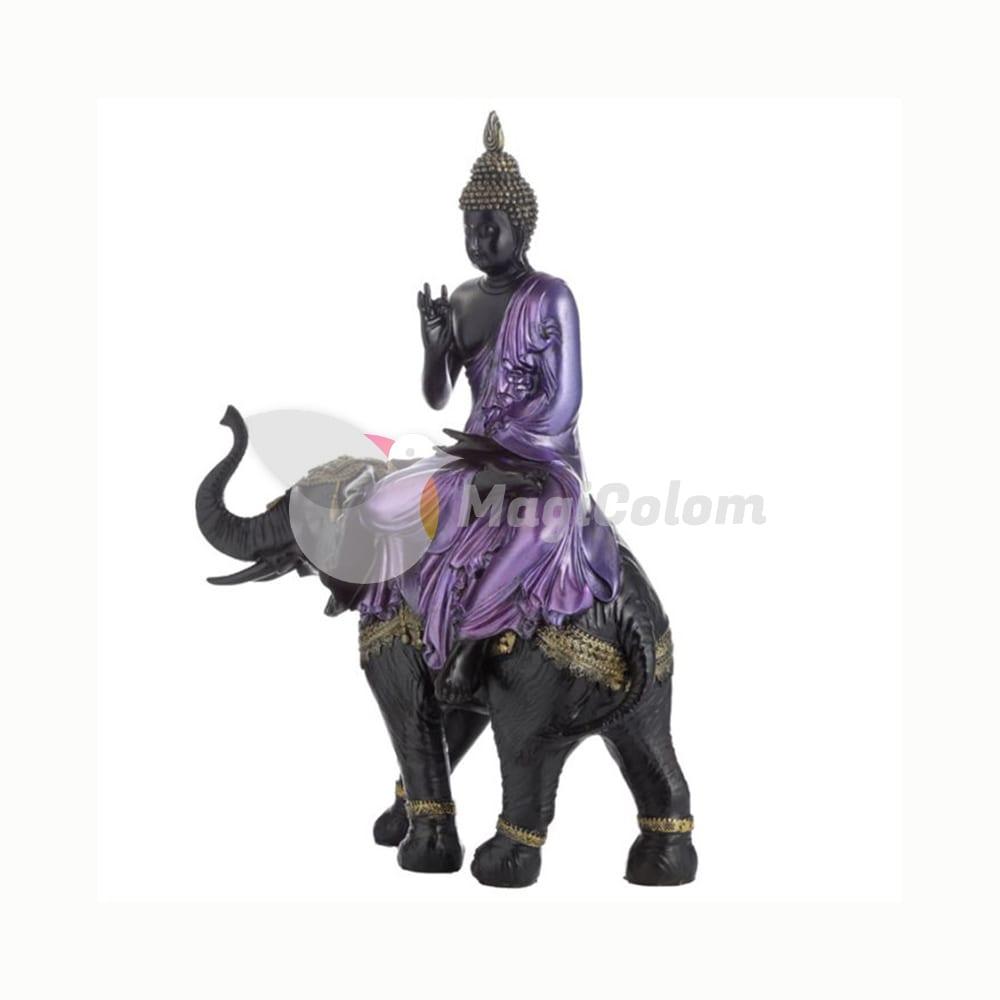 Figura Buda Tailandés Sobre Elefante