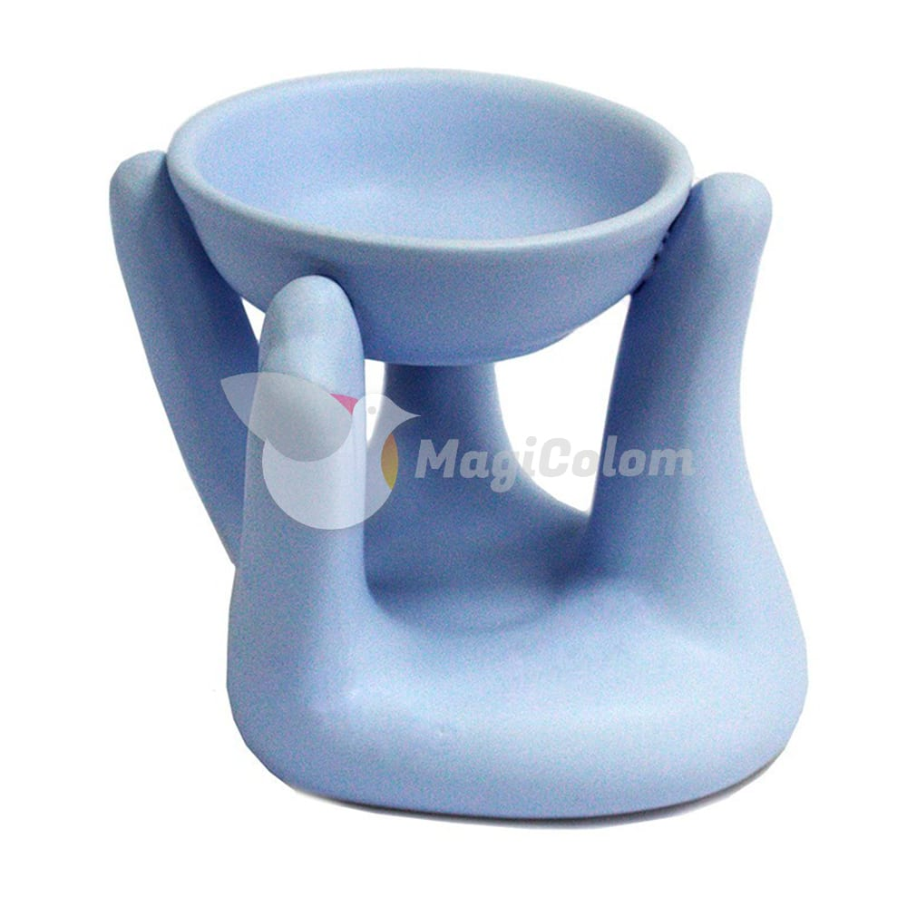 Quemador Fragancia Mano Azul