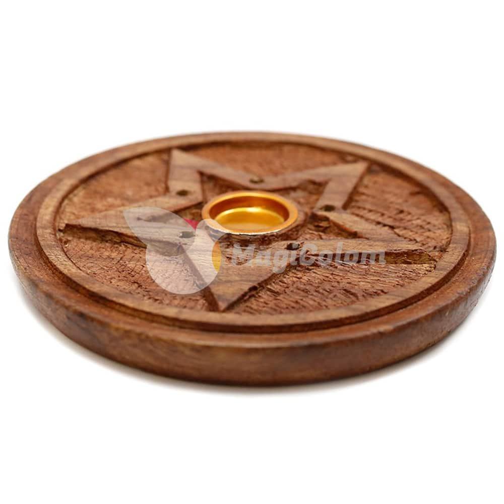 Soporte madera disco estrella, varillas y conos