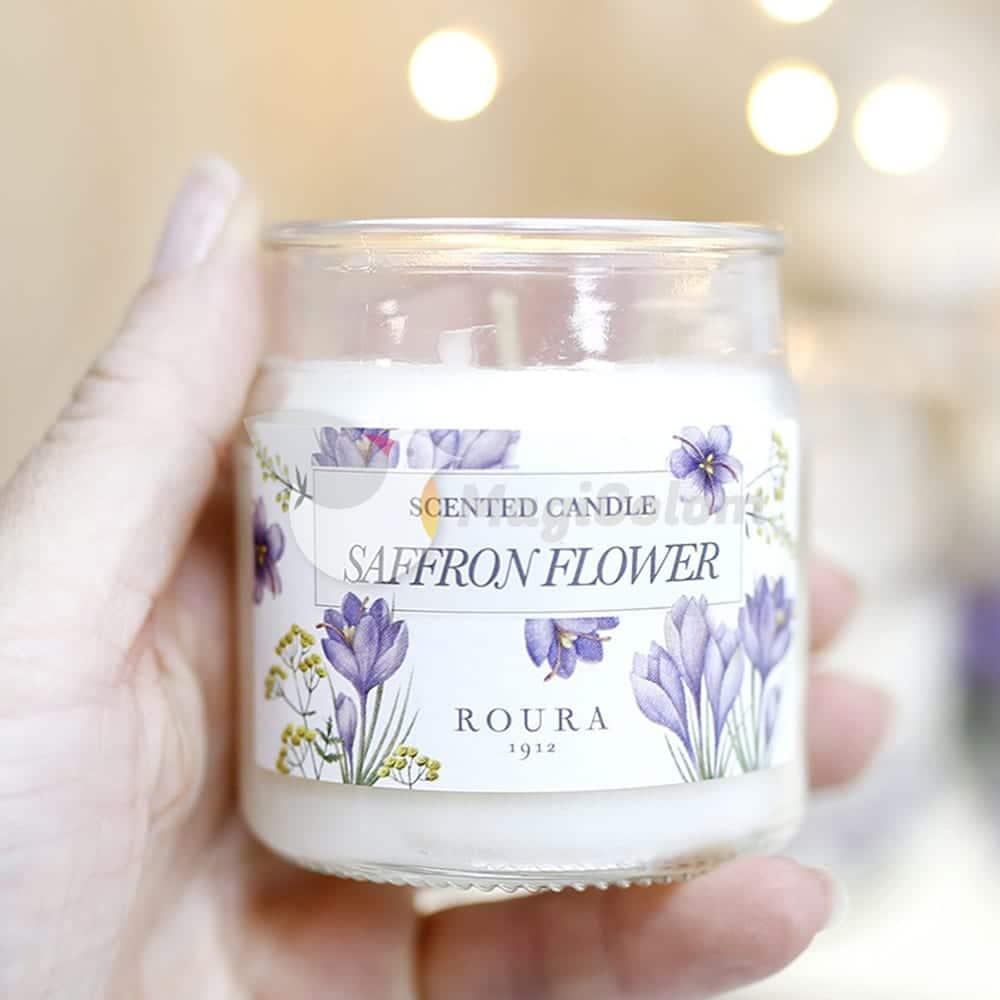 Vela botánica aroma Saffron Flower