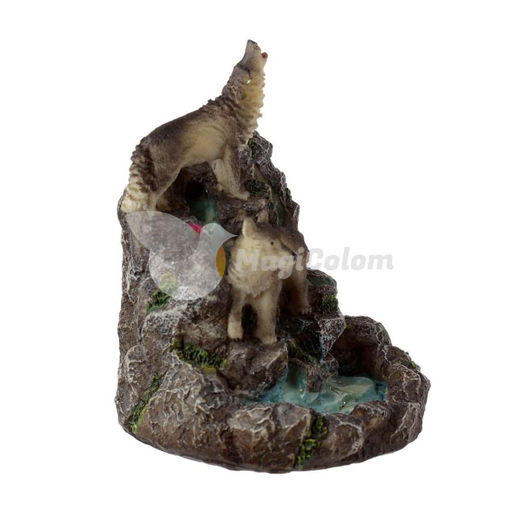 Quemador de Incienso de Reflujo Lobos en la Montaña