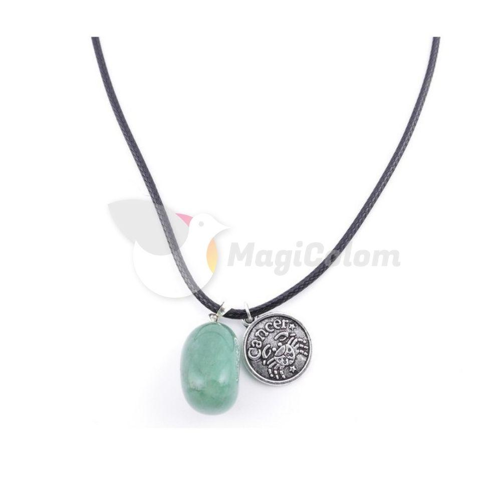 Collar Amuleto Cáncer y Piedra Aventurina
