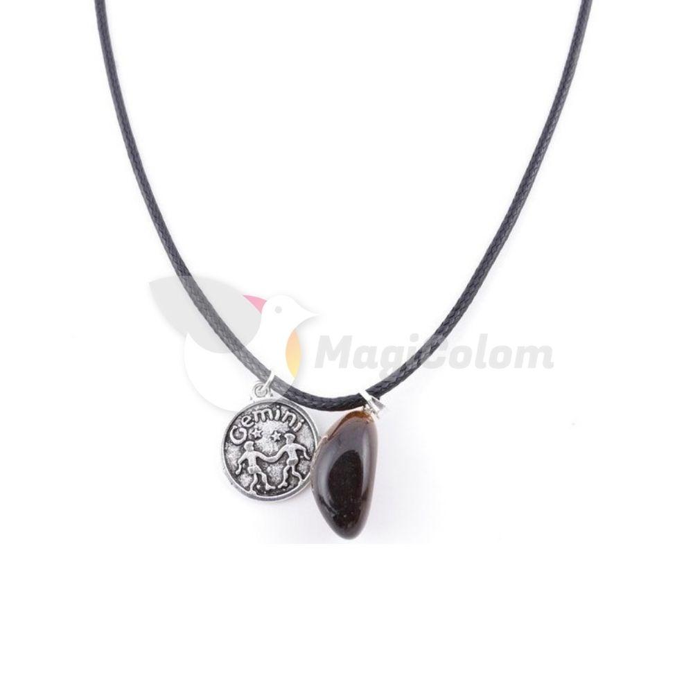 Collar Amuleto Geminis y Ojo de Tigre