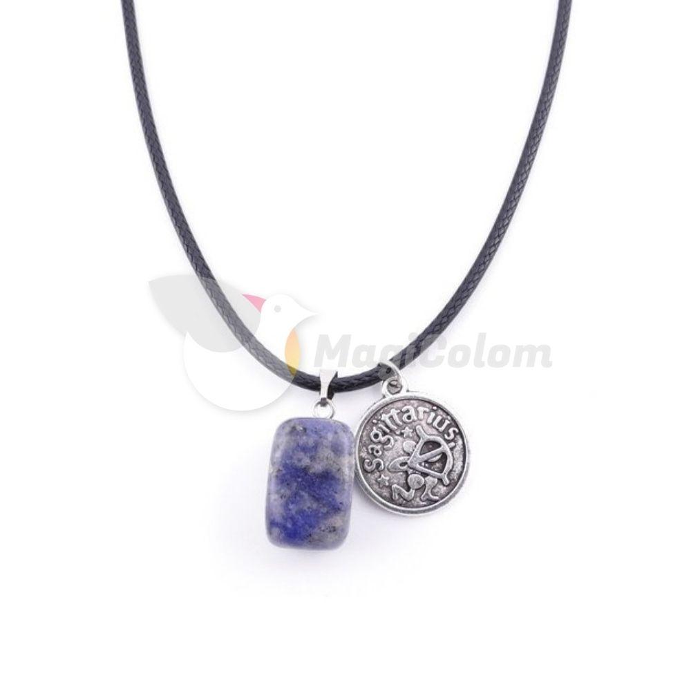 Collar Amuleto Sagitario y Piedra Lapislázuli