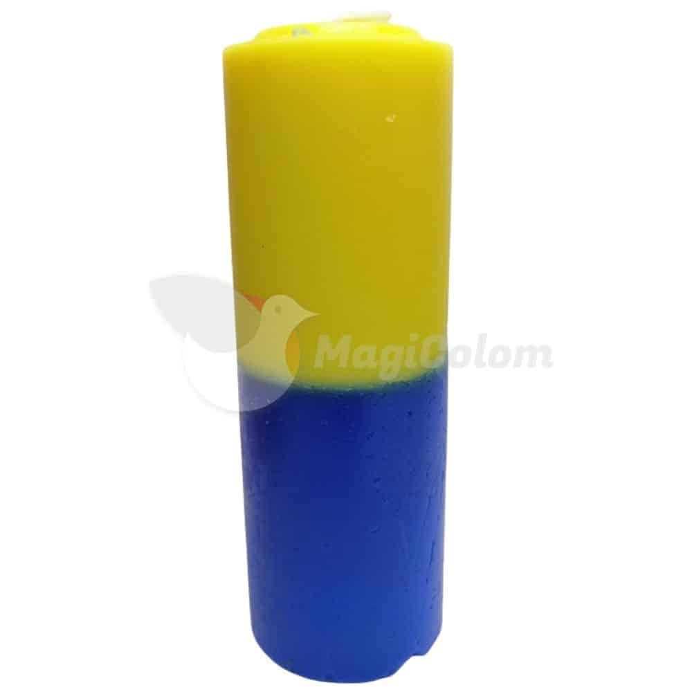 Velón Azul Amarillo Especial Esotérico