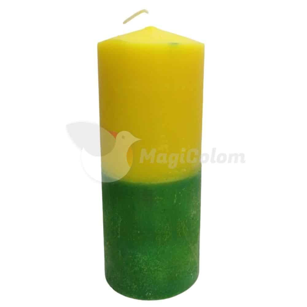 Velón Verde y Amarillo Especial Esotérico
