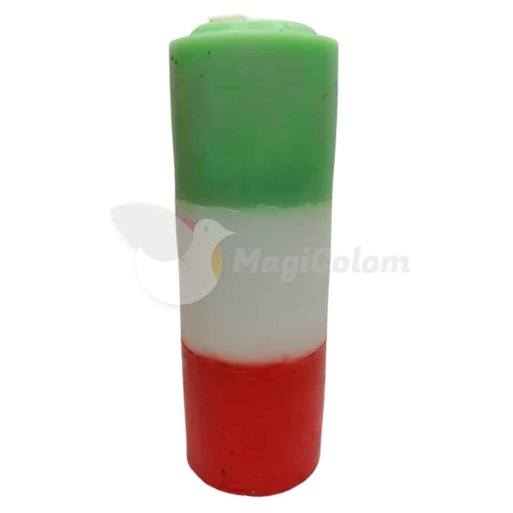Velón Rojo Blanco Verde Especial Esotérico